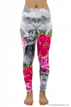 FLORAL DIVERGENCE FULL-LENGTH LEGGINGS