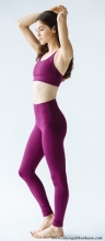 High Waisted Fonda Legging - Eggplant