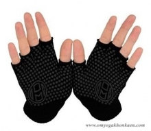 Mato & Hash Fingerless Exercise Grip Gloves - Black dot Black